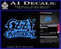 Ozzy OzbourneTXTS Decal Sticker Light Blue Vinyl 120x97