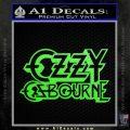 Ozzy OzbourneTXTS Decal Sticker Lime Green Vinyl 120x120