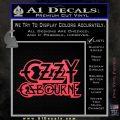 Ozzy OzbourneTXTS Decal Sticker Pink Vinyl Emblem 120x120