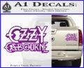 Ozzy OzbourneTXTS Decal Sticker Purple Vinyl 120x97