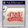 Ozzy OzbourneTXTS Decal Sticker Red Vinyl 120x120