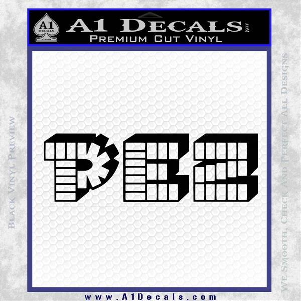 Pez Candy Decal Sticker Logo 187 A1 Decals