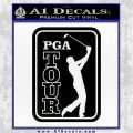 PGA Tour Decal Sticker Golf Black Logo Emblem 120x120