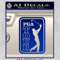 PGA Tour Decal Sticker Golf Blue Vinyl 120x120