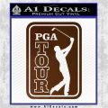 PGA Tour Decal Sticker Golf Brown Vinyl 120x120