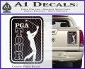 PGA Tour Decal Sticker Golf Carbon Fiber Black 120x97