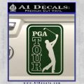 PGA Tour Decal Sticker Golf Dark Green Vinyl 120x120