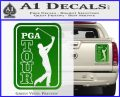 PGA Tour Decal Sticker Golf Green Vinyl 120x97