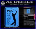 PGA Tour Decal Sticker Golf Light Blue Vinyl 120x97
