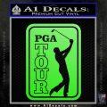 PGA Tour Decal Sticker Golf Lime Green Vinyl 120x120