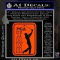 PGA Tour Decal Sticker Golf Orange Vinyl Emblem 120x120