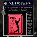 PGA Tour Decal Sticker Golf Pink Vinyl Emblem 120x120