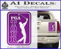PGA Tour Decal Sticker Golf Purple Vinyl 120x97