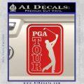 PGA Tour Decal Sticker Golf Red Vinyl 120x120