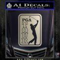 PGA Tour Decal Sticker Golf Silver Vinyl 120x120
