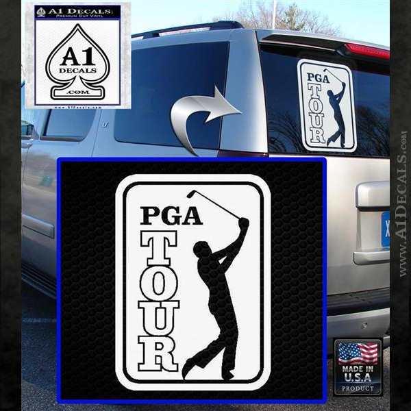 PGA Tour Decal Sticker Golf White Emblem
