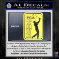 PGA Tour Decal Sticker Golf Yelllow Vinyl 120x120
