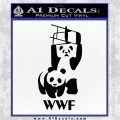 Panda Bear Wrestling WWF Decal Sticker Black Logo Emblem 120x120