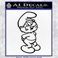 Papa Smurf Decal Sticker Standing Black Logo Emblem 120x120