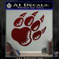 Paw Shadow Decal Sticker Dark Red Vinyl 120x120