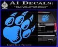 Paw Shadow Decal Sticker Light Blue Vinyl 120x97