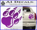 Paw Shadow Decal Sticker Purple Vinyl 120x97