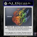 Paw Shadow Decal Sticker Sparkle Glitter Vinyl 120x120