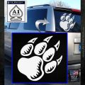 Paw Shadow Decal Sticker White Emblem 120x120