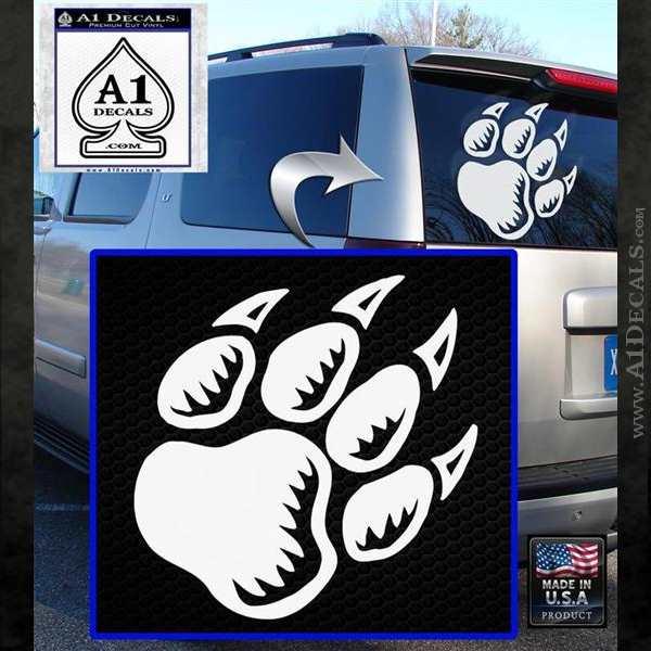 Paw Shadow Decal Sticker White Emblem