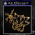 Pokemon Gengar Decal Sticker Metallic Gold Vinyl 120x120