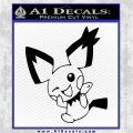 Pokemon Gizamimi Decal Sticker Black Logo Emblem 120x120