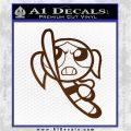 Poweruff Girl Decal Sticker Bubbles Brown Vinyl 120x120