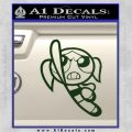 Poweruff Girl Decal Sticker Bubbles Dark Green Vinyl 120x120