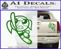 Poweruff Girl Decal Sticker Bubbles Green Vinyl 120x97