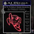 Poweruff Girl Decal Sticker Bubbles Pink Vinyl Emblem 120x120