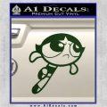 Poweruff Girl Decal Sticker Buttercup Dark Green Vinyl 120x120