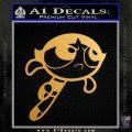 Poweruff Girl Decal Sticker Buttercup Metallic Gold Vinyl 120x120