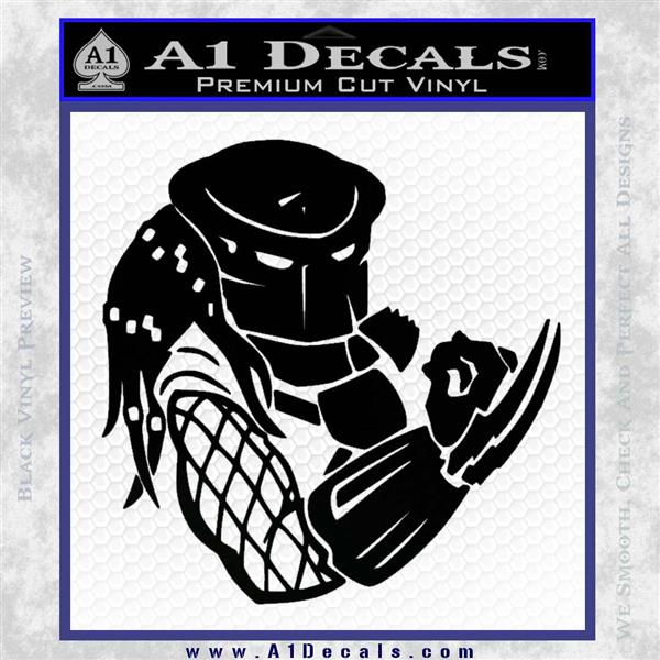 Predator Head Profile DLB Decal Sticker Black Logo Emblem