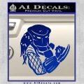 Predator Head Profile DLB Decal Sticker Blue Vinyl 120x120