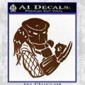 Predator Head Profile DLB Decal Sticker Brown Vinyl 120x120