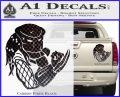 Predator Head Profile DLB Decal Sticker Carbon Fiber Black 120x97