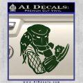 Predator Head Profile DLB Decal Sticker Dark Green Vinyl 120x120