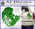 Predator Head Profile DLB Decal Sticker Green Vinyl 120x97