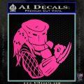 Predator Head Profile DLB Decal Sticker Hot Pink Vinyl 120x120