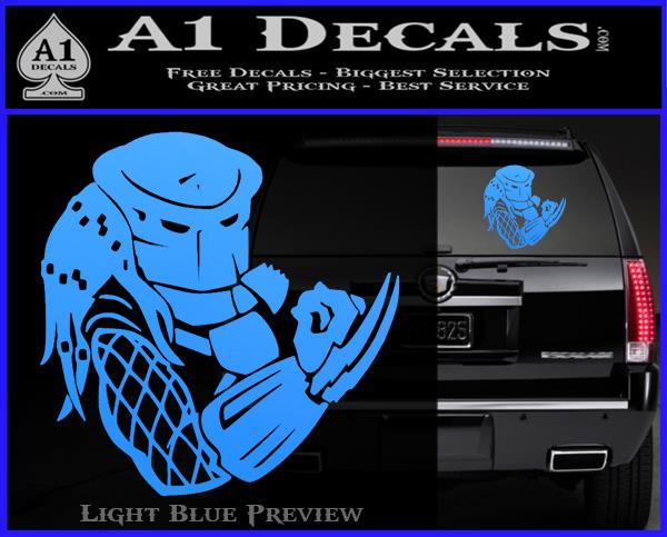 Predator Head Profile Dlb Decal Sticker 187 A1 Decals