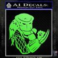 Predator Head Profile DLB Decal Sticker Lime Green Vinyl 120x120