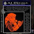 Predator Head Profile DLB Decal Sticker Orange Vinyl Emblem 120x120