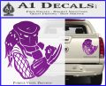 Predator Head Profile DLB Decal Sticker Purple Vinyl 120x97