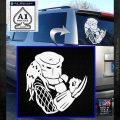 Predator Head Profile DLB Decal Sticker White Emblem 120x120