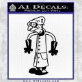 Professor Farnsworth Decal Sticker Lab Coat Black Logo Emblem 120x120